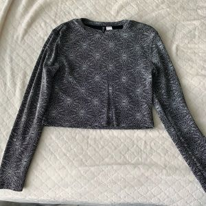 forever 21 sparkly long sleeve top